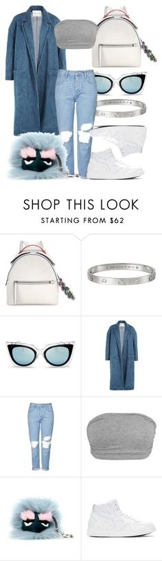 """""""#Look:317"""" by dollarwomanlux ❤ liked on Polyvore featuring Fendi, Cartier, Sandy Liang, Topshop and County Of Milan"""