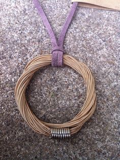 Limited Edition Restored Guitar String Pendant in Bronze! Only fifteen of these!