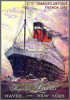 French Line 1925 Transatlantique Poster http://stores.ebay.com/Vintage-Poster-Prints-and-more