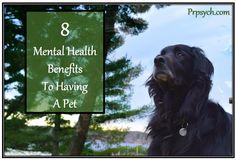 Eight Mental Health Benefits to Having a Pet | Park Ridge Psychological Services
