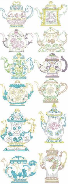 Victorian teapots