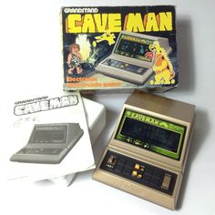 Caveman by Tomy / Grandstand. More about this game here --> http://www.retrogames.co.uk/011658/Handheld/Caveman-by-Tomy-Grandstand