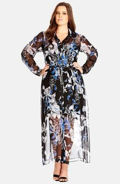City Chic Floral Print Maxi Dress (Plus Size) available at #Nordstrom