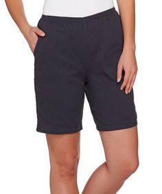 Look what I found on #zulily! Charcoal Gray How Timeless Shorts - Plus Too #zulilyfinds