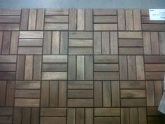 Ikea wood tiles? maybe