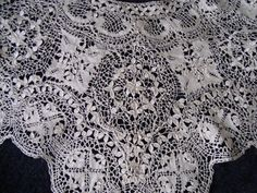 Charming Unused Antique Silk Maltese Bobbin Lace Collar | eBay
