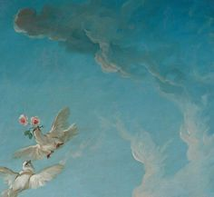 François Boucher, Venus on Wave (detail) 1769 - Painting Rennaissance Art, Art Blue, Art Ancien, Renaissance Paintings, Classic Paintings, Classical Art, Old Art, Aesthetic Art, Aesthetic Painting