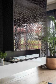 11 design ideas to steal from House Rules Cosy Fireplace, Fireplace Ideas, Oversized Round Mirror, Shower Recess, Bold Wallpaper, Chimney Breast, Cottage Renovation, Feature Tiles, Shower Niche