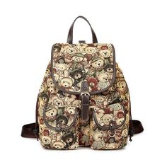 Cool! Lovely College Style Teddy Bear Printed Backpack just $41.99 from ByGoods.com! I can't wait to get it!