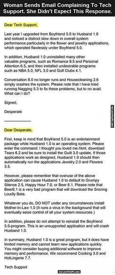 Woman Sends Email Complaining To Tech Support But She Didn't Expect This Response funny jokes story lol funny quote funny quotes funny sayings joke hilarious humor stories marriage humor funny jokes best jokes ever best jokes