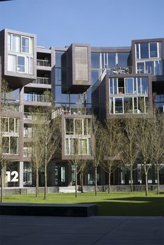 Nice design, puts some visual interest into this apartment building.