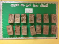 McDade Classical in Chicago came up with this clever Thinking Maps bulletin board to see how much they knew about Chicago. Thinking Maps, Bulletin Board, Clever, Chicago, Messages, Learning, Plank, Studying