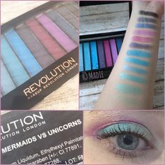 Makeup Revolution Redemption Palette Mermaids vs Unicorns Lidschattenpalette
