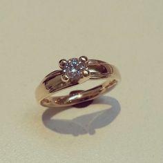 #solitaire #jewelery #love #style #gold #wedding #fashion #engagement #diamond #handmade