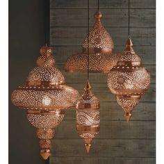 Moroccan copper lanterns