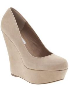 Nude pumps to wear with a bridesmaid dress. Love these, good thing I'm short...