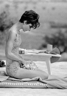 Audrey Hepburn on location in St. Tropez for the filming of Two for the Road. Photograph by Terry O'Neill, 1966.