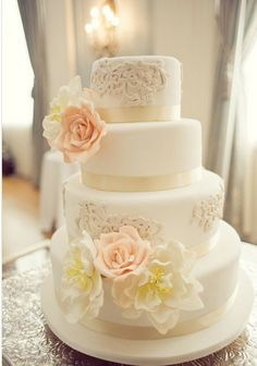 {Wedding Trends} : Lace Cakes – Part 2 - Hochzeit Beautiful Wedding Cakes, Gorgeous Cakes, Pretty Cakes, Dream Wedding, Lace Wedding, Elegant Wedding, Floral Wedding, Summer Wedding, Gorgeous Gorgeous