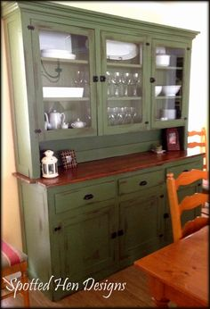 Old hutch refinished - If my cabinets cannot be green, maybe my hutch can??
