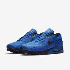 Cheap Nike Air Max 90 Ultra Se Hyper Cobalt Omega Blue Dark Obsidian Sale Nike Air Max Trainers, Air Max 90 Leather, Walk Run, Cheap Nike Air Max, Men's Sneakers, Men's Style, Cobalt, Omega, Kicks