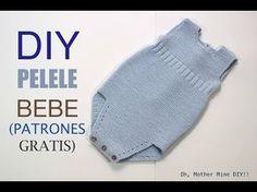 Diy ropa bebe spanish 39 new ideas Baby Knitting, Crochet Baby, Knit Crochet, Knitted Baby Clothes, Knitted Hats, Romper Tutorial, Diy Christmas Tags, Baby Leggings, Christmas Knitting