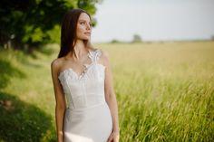 ASHLEY is a one shoulder super feminine wedding by SashCouture1