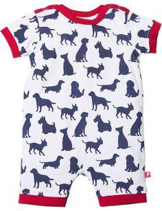 Novelty Puppy Short Sleeve Romper | David Jones