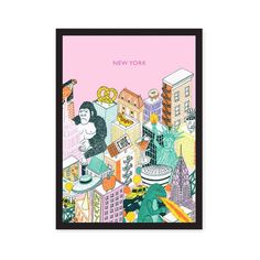 This Big Apple print has a poppin' pink background and is printed on coated 150gsm paper. Details: 14.8 × 21cm (5.83 x 8.27 in) Frame not included Roses Store, Ohh Deer, Jungle Art, Apple Prints, New York Art, Paper Size, Art Prints, Wall Art, Pink