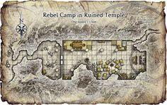 Rebel Camp in Ruined Temple
