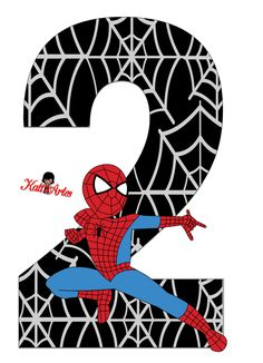 Spiderman Theme Party, Superhero Party Decorations, Superhero Birthday Party, Man Birthday, Party Themes, Superhero Cupcake Toppers, Hello Kitty Wallpaper, Alphabet And Numbers, Baby Scrapbook