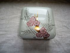 Japanese Porcelain Pink Floral Hand Painted by TammysFindings