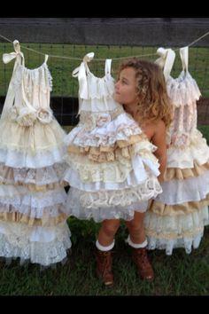 Lace Flower Girl Dress//Vintage Dress// Little Girl by RainRene, $175.00