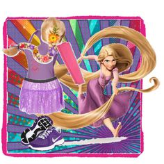 Tangled's Rapunzel Running Costume - Polyvore  I still think I could make this work. No wig though, that is just not going to happen for 13 miles!
