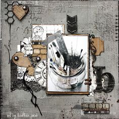 B for Brushes | Flickr - Photo Sharing!  art by heather jacob