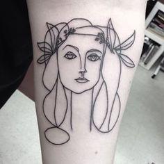 picasso head of woman tattoo - Szukaj w Google
