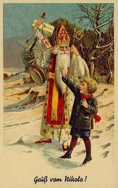 Golden Age Comic Book Stories - Artist: Frank E. Vintage Christmas Cards, Vintage Cards, Vintage Postcards, Retro Illustration, Vintage Illustrations, Santa Pictures, Postcard Art, Norman Rockwell, Art Music