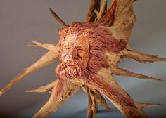 Flexcut Creativity Award Group M - Unusual Woods    Tom Gow, Greer, SC    Headlong Into the Wind