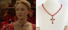 Lucrezia Borgia Ruby Cross Necklace borgiasneck404 by tudorshoppe