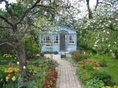 Allotment Gardening, Garden Cottage, Small Gardens, My Room, Shed, Cabin, Greenhouses, House Styles, Finland