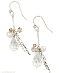 I got these earrings and they are so fun!! Pearl, Glass, Sterling Silver.
