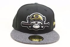 b6666a336b4 Jackson Generals Black Melton Gray Gold White MiLB New Era 59Fifty Fitted  Hat