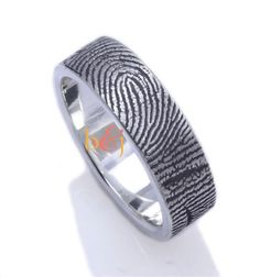 Brent fingerprint rings: now with even MORE personality! | Offbeat Bride                                                                                                                                                                                 More