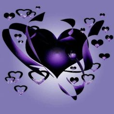 Black and purple hearts
