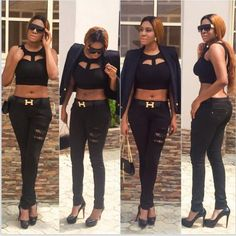 Hot or Not: Chika Ike's sexy outfit - http://streetsofnaija.net/2015/01/hot-or-not-chika-ikes-sexy-outfit/