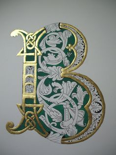 can find Illuminated letters and more on our Creative Lettering, Lettering Design, Hand Lettering, Illuminated Letters, Illuminated Manuscript, Illumination Art, Fancy Letters, Alphabet Art, Turkish Art