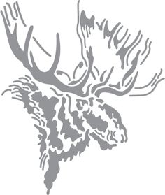 moose stencil | This entry was posted in North American Mammals with keywords hunting ...