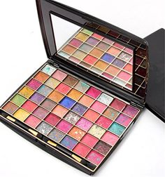 Pure Vie Professional 48 Colors Eyeshadow Palette Makeup Contouring Kit 1 for Salon and Daily Use -- Read more reviews of the product by visiting the link on the image.