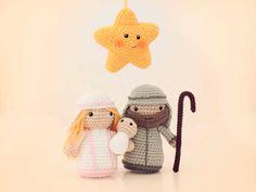 muñecos de amigurumi del nacimiento en belen con patrón