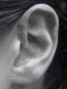 Double Daith piercing