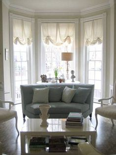 Home Design and Decor , Best Window Treatments For Bay Windows : Window Treatments For Bay Windows With Roman Shades With Pleated Butterflr